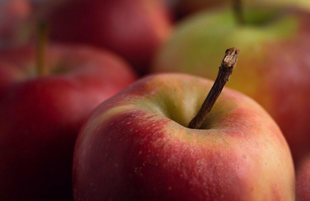Czerwone, dojrzałe jabłka
