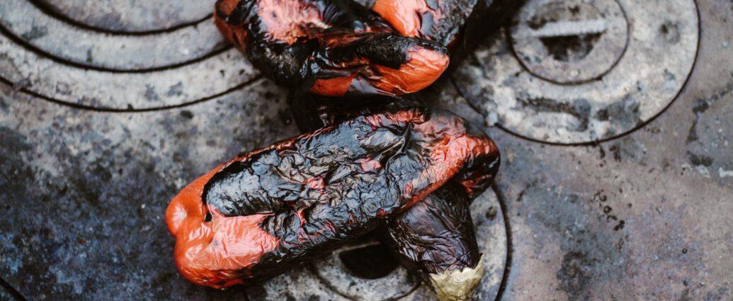 Pieczona papryka na blasze