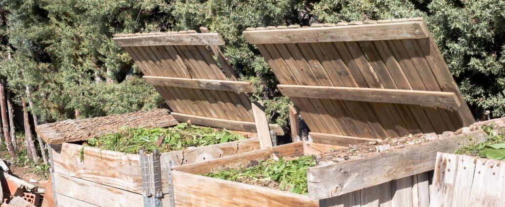 Kompostowniki ogrodowe wykonane z drewna